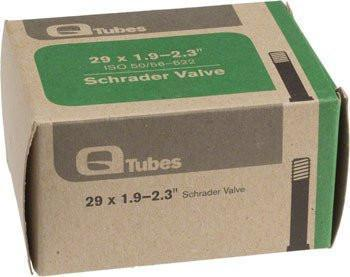 "Q-Tubes 29"" x 1.9-2.3"" Schrader Valve Tube (700c x 47-52mm)-Bicycle Tube-Qtubes-Voltaire Cycles of Verona"