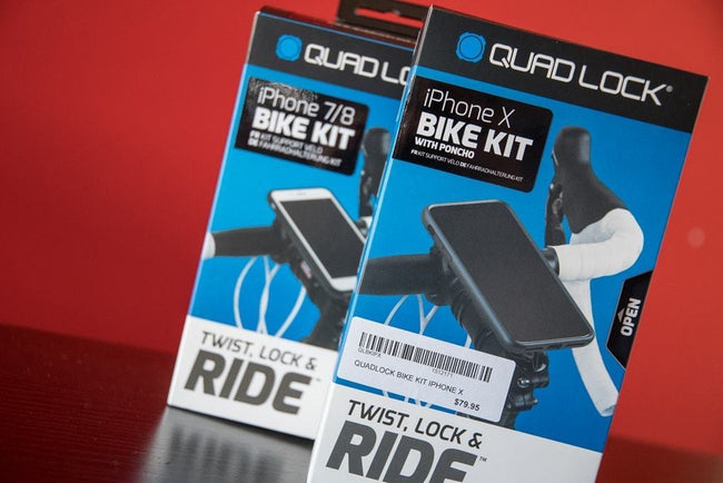 QuadLock iPhone X Bike Kit by Annex-Bicycle Phone Mounts-Annex-Voltaire Cycles of Verona