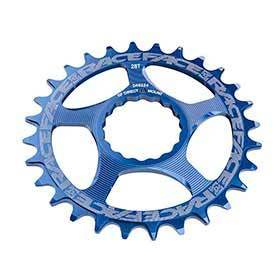 Race Face Cinch Direct Mount 32t Chainring 9-12sp Bcd: Direct Mount 7075-T6 Aluminum Blue-Chainrings-Race Face-Voltaire Cycles of Verona