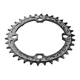 Race Face Narrow Wide 104mm Bcd 30t Chainring 9-12sp Bcd: 104 7075-T6 Aluminum Black-Chainrings-Race Face-Voltaire Cycles of Verona