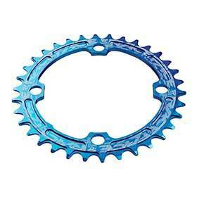 Race Face Narrow Wide 104mm Bcd 30t Chainring 9-12sp Bcd: 104 7075-T6 Aluminum Blue-Chainrings-Race Face-Voltaire Cycles of Verona