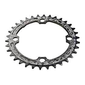 Race Face Narrow Wide 104mm Bcd 32t Chainring 9-12sp Bcd: 104 7075-T6 Aluminum Black-Chainrings-Race Face-Voltaire Cycles of Verona