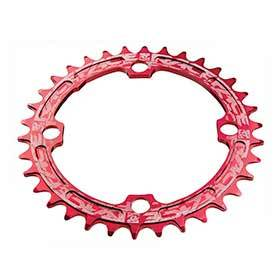 Race Face Narrow Wide 104mm Bcd 34t Chainring 9-12sp Bcd: 104 7075-T6 Aluminum Red-Chainrings-Race Face-Voltaire Cycles of Verona