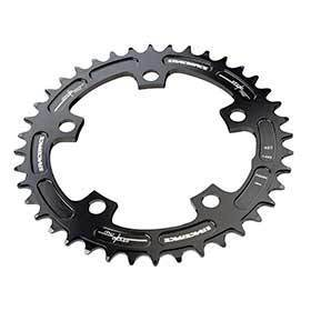 Race Face Narrow Wide 130mm Bcd 42t Chainring 9-12sp Bcd: 130 7075-T6 Aluminum Black-Chainrings-Race Face-Voltaire Cycles of Verona