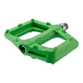 Race Face Ride Platform Pedals Body: Nylon Spindle: Cr-Mo 9/16 Green Pair-Pedals-Race Face-Voltaire Cycles of Verona
