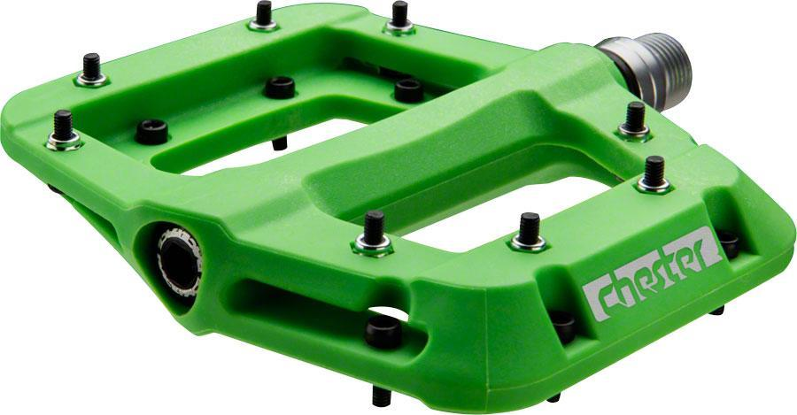 "RaceFace Chester Composite Platform Pedals 9/16""-Bicycle Pedals-RaceFace-Green-Voltaire Cycles of Verona"