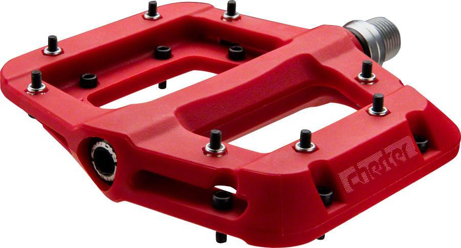 "RaceFace Chester Composite Platform Pedals 9/16""-Bicycle Pedals-RaceFace-Red-Voltaire Cycles of Verona"