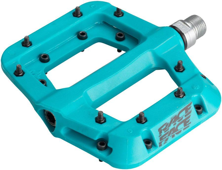 "RaceFace Chester Composite Platform Pedals 9/16""-Bicycle Pedals-RaceFace-Turquoise-Voltaire Cycles of Verona"