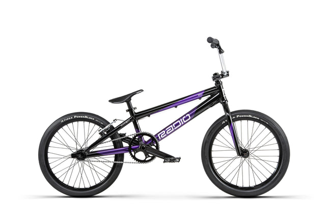 Radio Xenon PRO BMX Bike-Basic Bicycles-Radio-Black/Metallic Purple-Voltaire Cycles of Verona