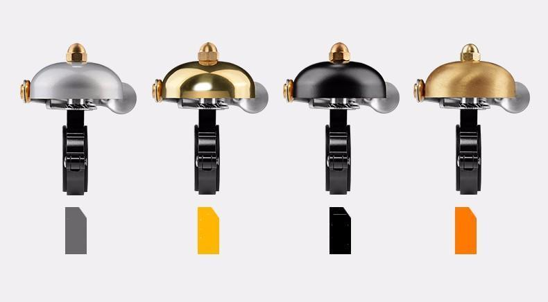 Rock Bros Classic Lever Bicycle Bell-Bicycle Bells-Rock Bros-Gloss Gold-Voltaire Cycles of Verona