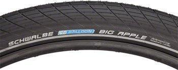 "Schwalbe Big Apple Tire, 28"" x 2.35"" Wire Bead Black with Reflective Sidewall and RaceGuard Protection-Bicycle Tires-Schwalbe-Voltaire Cycles of Verona"