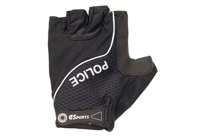 Short Finger Gloves with Police Logos-Police Accessories-C3Sports-Voltaire Cycles of Verona