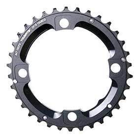 Sram 34t Chainring 10sp Bcd: 104 Aluminum Black-Chainrings-SRAM-Voltaire Cycles of Verona