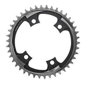 Sram X-Sync 2 107mm Chainring Teeth: 42 Speed: 12 Bcd: 107 Bolts: 4 Single Aluminum Grey-Chainrings-SRAM-Voltaire Cycles of Verona