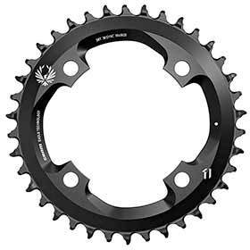 Sram X-Sync 2 38 Chainring 12sp Bcd: 104 Aluminum Black-Chainrings-SRAM-Voltaire Cycles of Verona
