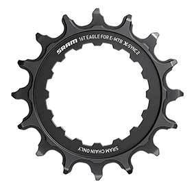 Sram X-Sync 2 Bosch Chainring Teeth: 34 Speed: 12 Bcd: Direct Mount Single Steel Black-Chainrings-SRAM-Voltaire Cycles of Verona