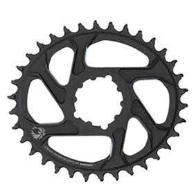 Sram X-Sync 2 Oval 36t Chainring 11/12sp Bcd: Direct Mount Aluminum Black 6mm Offset-Chainrings-SRAM-Voltaire Cycles of Verona