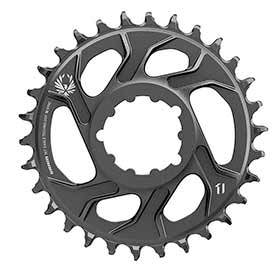 Sram X-Sync 2 Steel 3mm Chainring Teeth: 30 Speed: 11/12 Bcd: Direct Mount Single Steel Black-Chainrings-SRAM-Voltaire Cycles of Verona