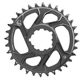 Sram X-Sync 2 Steel 3mm Chainring Teeth: 32 Speed: 11/12 Bcd: Direct Mount Single Steel Black-Chainrings-SRAM-Voltaire Cycles of Verona