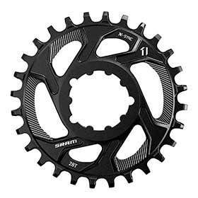 Sram X-Sync 28t 11sp Direct Mount Chainring Offset 3mm Steel Black-Chainrings-SRAM-Voltaire Cycles of Verona