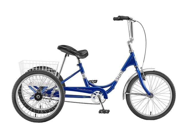 Sun Bicycles Traditional 20 Trike-Adult Trikes-Sun Bicycles-Blue Metallic-Voltaire Cycles of Verona