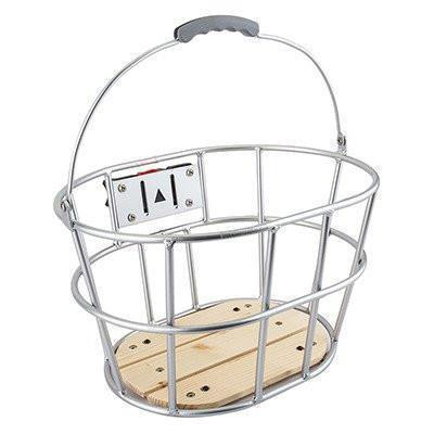 Sunlite Woody Quick Release Front Bicycle Basket-Bicycle Baskets-Sunlite-Voltaire Cycles of Verona