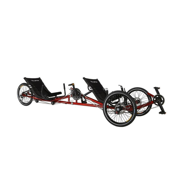TerraTrike Tandem Pro with Independent Pedaling System-Recumbent Trikes-TerraTrike-Voltaire Cycles of Verona