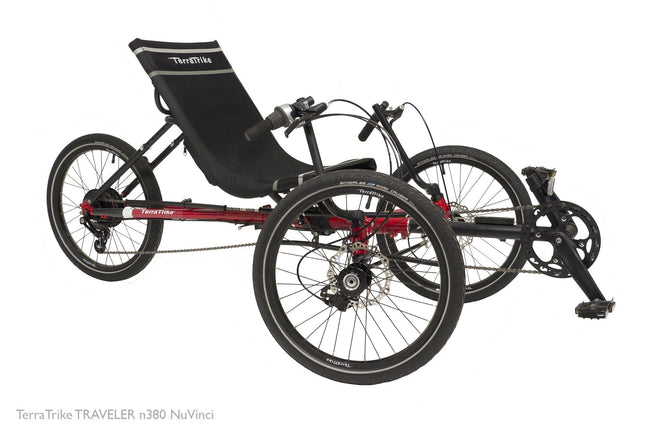 TerraTrike Traveler Folding Recumbent Trike-Recumbent Trikes-TerraTrike-Voltaire Cycles of Verona