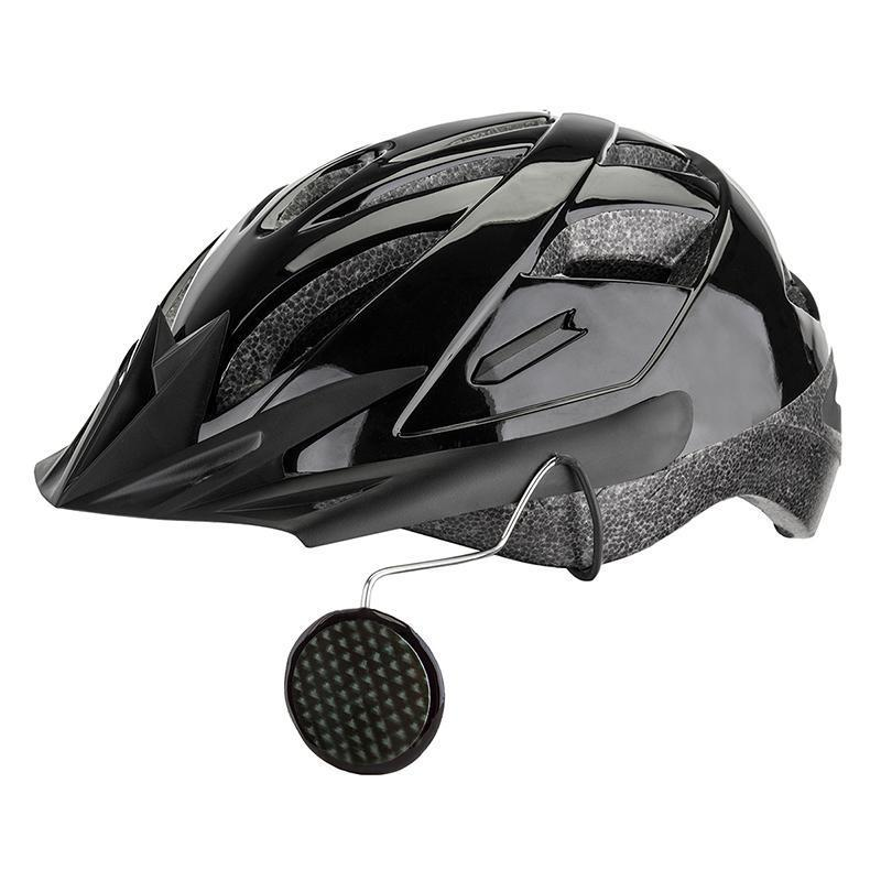 Tiger Eye Universal Helmet Mount Mirror-Bicycle Mirrors-Tiger Eye-Carbon Fiber-Voltaire Cycles of Verona