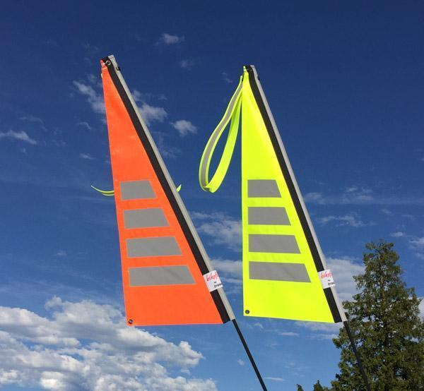 Traumvelo Flag for Recumbent or Electric Bicycle-Bicycle Flags-TerraCycle-Fluorescent Yellow-6mm-Voltaire Cycles of Verona