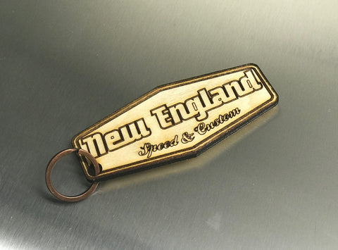 "NESC  ""Custom Balsa Wooden Key Chains"""