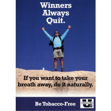 Winners Always Quit Postcard
