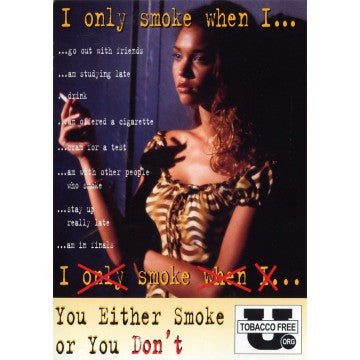 I Only Smoke When I... Postcard