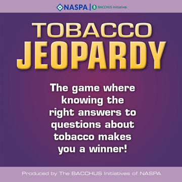 Tobacco Jeopardy - Updated 2016!