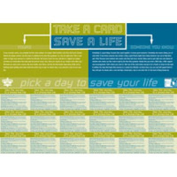 Take a Card Poster/Save a Life