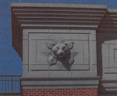 Entrance Arch and Tiger Mascot: Truman School
