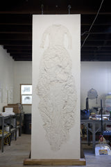 Unique Pieces by Aurore Thibout: Plaster Relief Sculpture