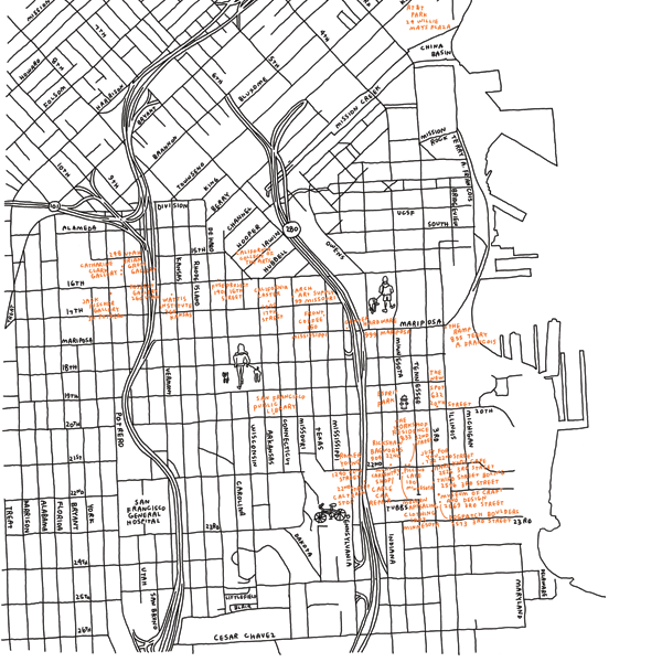 Jason Polan: Dogpatch Map