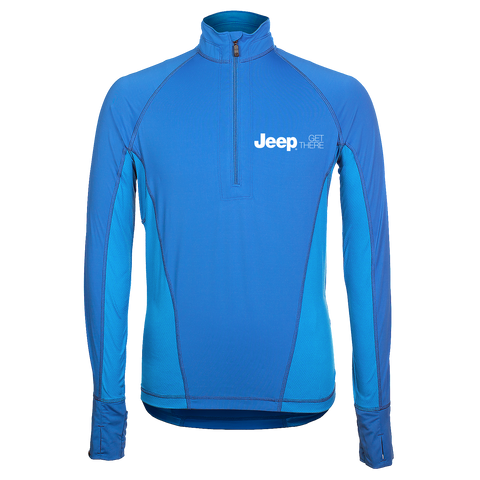 JP2330 - Men's Jeep High Stretch Half-Zip Pullover in Cobalt/Ocean