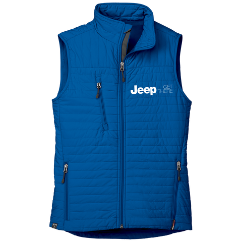 JP3125 - Women's Jeep 'Katrina' Thermolite Quilted Full-Zip Vest in Cobalt