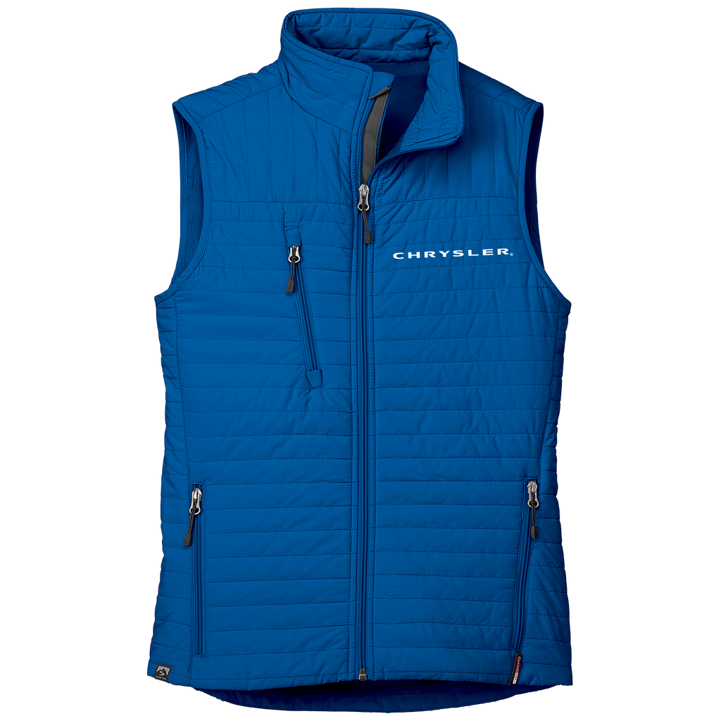 CH3125 - Women's Chrysler 'Katrina' Thermolite Quilted Full-Zip Vest in Cobalt