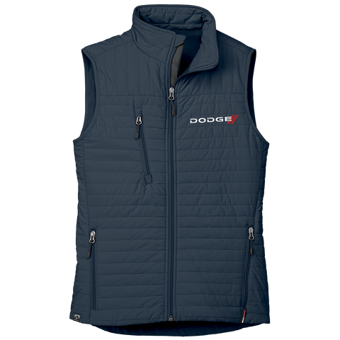 DG3125 - Women's Dodge 'Katrina' Thermolite Quilted Full-Zip Vest in Navy