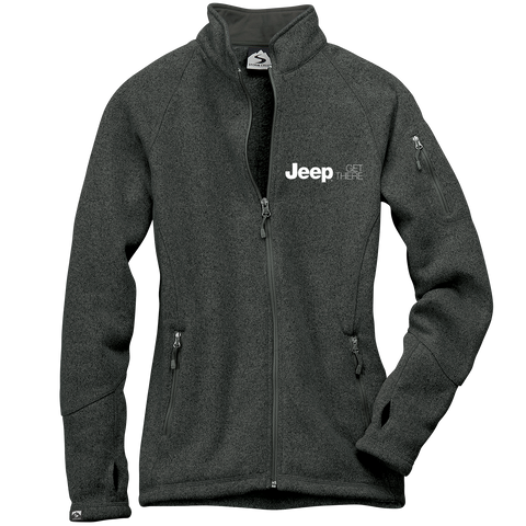 JP4625 - Women's Jeep 'Celine' Sweaterfleece Full-Zip Jacket in Cinder.