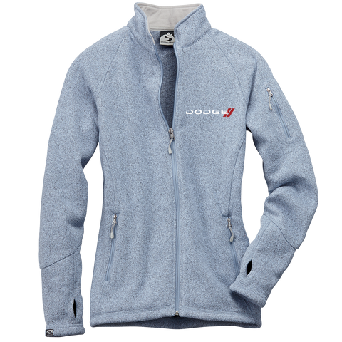 DG4625 - Women's Dodge 'Celine' Sweaterfleece Full-Zip Jacket in Frost.