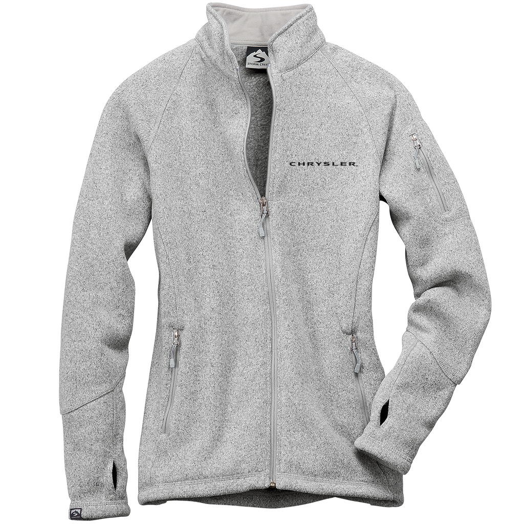 CH4625 - Women's Chrysler 'Celine' Sweaterfleece Full-Zip Jacket in Platinum.
