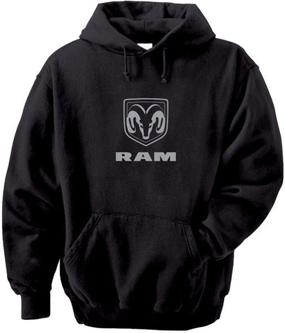 Sweatshirt - Dodge RAM Hoody in Black