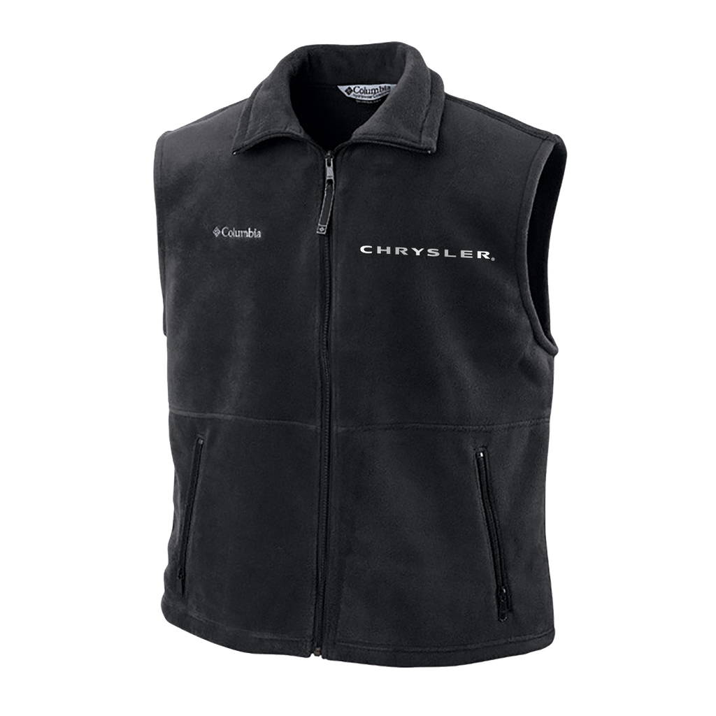 CHVST1001 - Men's Chrysler Cathedral Peak Full-Zip Fleece Vest in Charcoal