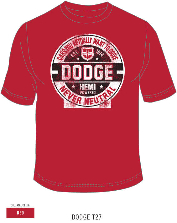Dodge Cars You Actually Drive Tee in Red