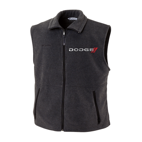 DGVST1001 - Men's Dodge Cathedral Peak Full-Zip Fleece Vest in Black Charcoal