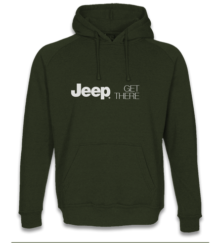 Green Jeep Get There Hoody